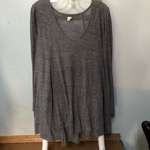 Free people gray flowy thermal